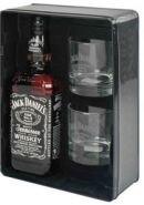 Виски Джек Дэниел'c подарочная упаковка металлическая + 2 стакана 0,7 л