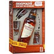 Виски Дюарс бел.эт. 0.75 л подарочная упаковка + 3 шота