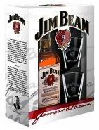 Виски (бурбон) Джим Бим 0.7 подарочная упаковка + 2 стакана